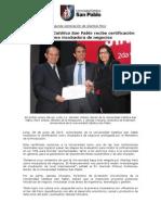NP Entrega Certificado FINCyT USCP