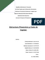 Estructura Financiera y Costo de Capital