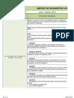 HSE.F.06.00 Matriz de Requisitos Legales y Evaluacion Del Cumplimiento - REGISTRO