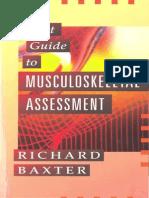 RICHARD f. BAXTER-Pocket Guide to Musculoskeletal Assessment