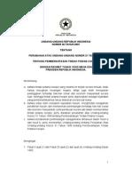 UU No 20 Tahun 2001-Tentang Pemberantasan Tindak Pidana Korupsi
