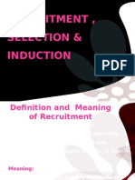 Recruitment, Selection & Induction (1)