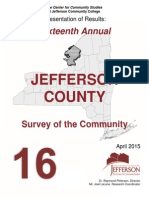 2015 Jefferson County quality of life survey