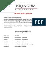 Muskingum University Marching Band Letter 2015