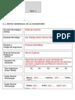 Formulario SAETA Procesos Petroliferos