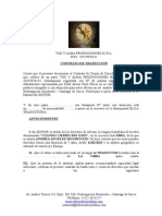 Modelo de Contrato de Traducción