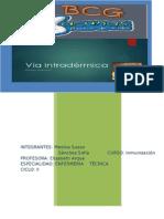 Vacuna Bcg y via Intradermica