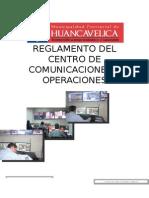 Reglamento Del Centro de Comunicaciones y Operaciones
