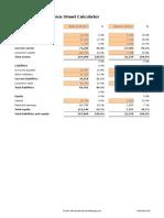 Common Size Balance Sheet Calculator v 1.01