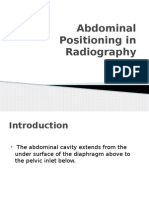 Abdominal Positioning in Radiography