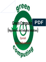 Green Computing - Regilation and Industry Initiatives