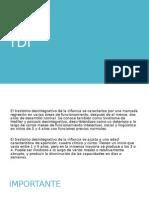 TDI (trastorno desintegrativo infantil)