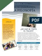 BOLETÍN - TALLER DE ENSEÑANZA DE LA FILOSOFÍA
