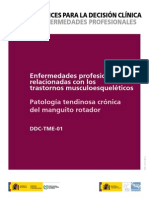 Manguito Rotador - Decisiones en Enfermedades Profesionales