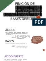 Definición de Ácidos Bases y Ácidos Bases Fuertes