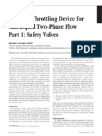 sizing of throttling devices for two phase flow relief valves