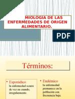 Epidemiología de Las Enfermedades de Origen Alimentario