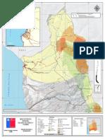 1. Región de Arica y Parinacota, Mapa de Riesgo, Variable de Riesgo Tsunami-Volcánica
