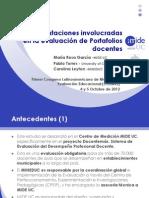 Representaciones involucradas en la evaluación de Portafolios Docentes