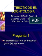 Antibioticos en Odontologia