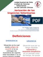 Caracterización de Las Urgencias Veterinarias