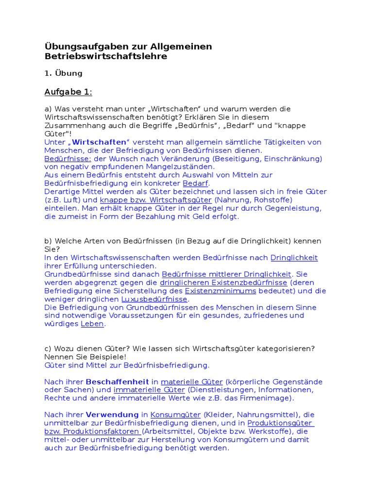 1bung_lsung - Konsumguter Beispiele