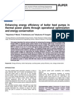 Enhancing Energy Efficiency of Boiler Feed Pumps in Thermal Power Plants Through Operational Optimization and Energy Conservation