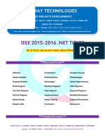 2016 Ieee .Net Netowrk Security Project Titles
