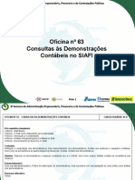 Cont Publ - Consultas as Demonstracoes Contabeis No Siafi