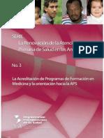 Acreditación Programas Formación Medicina APS