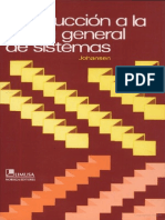 Introduccion a La Teoria de Sistemas de Oscar Johansen