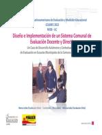 Diseño e Implementación de un Sistema Comunal de Evaluación Docente y Directivo