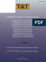 Terminologie Et Traduction