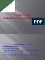 Diseño de Proyectos en Estomatología