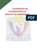 El Entrenamiento de Coordinación y El Deporte de Rendimiento