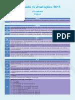 Calendário de Avaliações - 1 Sem 2015_ALUNOS