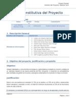 Ejemplo de charter de proyecto