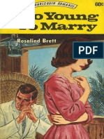 Too Young to Marry Rosalind Brett