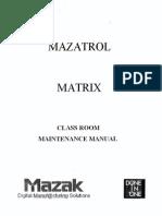 Mazak Mazatrol Matrix Control Classroom Maintenance Manual C740MT0201E