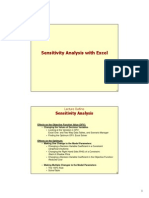 Excel Sensitivity Analysis