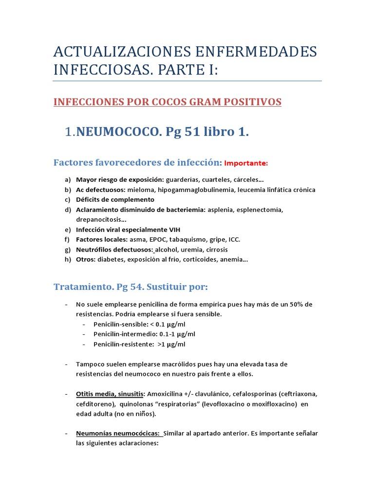 tratamiento de la bacteria neumococo
