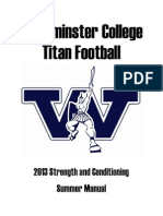 Westminster College Conditioning Manual