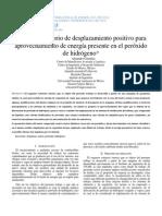 A Expansor Rotatorio de Desplazamiento Positivo Para Aprovechamiento de Energía Presente en El Peróxido de Hidrógeno