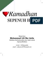 Ramadhan Sepenuh Hati *Muhammad Lili Nur Aulia