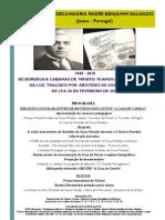 1940 - 2010 De Bordéus a Cabanas de Viriato 70 anos após o caminho da Luz traçado por Aristides de Sousa Mendes ESPBS CARTAZ
