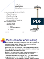 Measurement, Scaling, Attitude Measurement