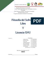 Licencia GNU y Filosofia Del SoL