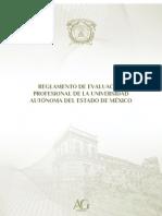 REGLAMENTO DE EVALUACIÓN PROFESIONAL DE LA UNIVERSIDAD AUTÓNOMA DEL ESTADO DE MÉXICO