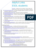 helpful links for esol students