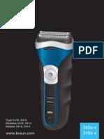 Manual Afeitadora Braun Serie 3